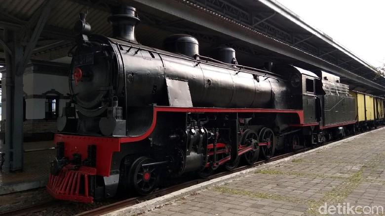 Foto: Koleksi lokomotif yang ada di Museum Kereta Api Ambarawa (Eko Susanto/detikTravel)