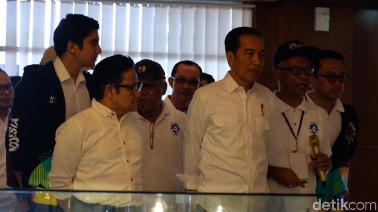 Bareng Cak Imin, Jokowi Tinjau Venue Asian Games di Palembang
