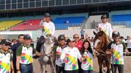 Berkuda Bareng Sandi, Mentan Cek Kesehatan Kuda Asian Games