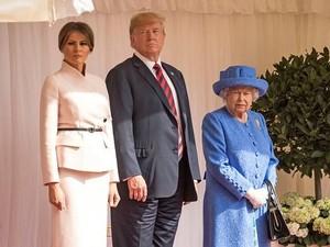 Pakai Aksesori Ini, Ratu Elizabeth Dianggap Meledek Donald Trump