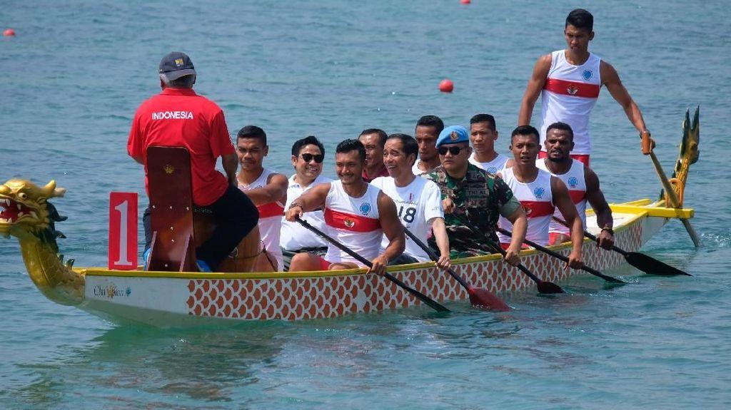Bareng Cak Imin, Jokowi Main Dayung dan Buka Piala Presiden