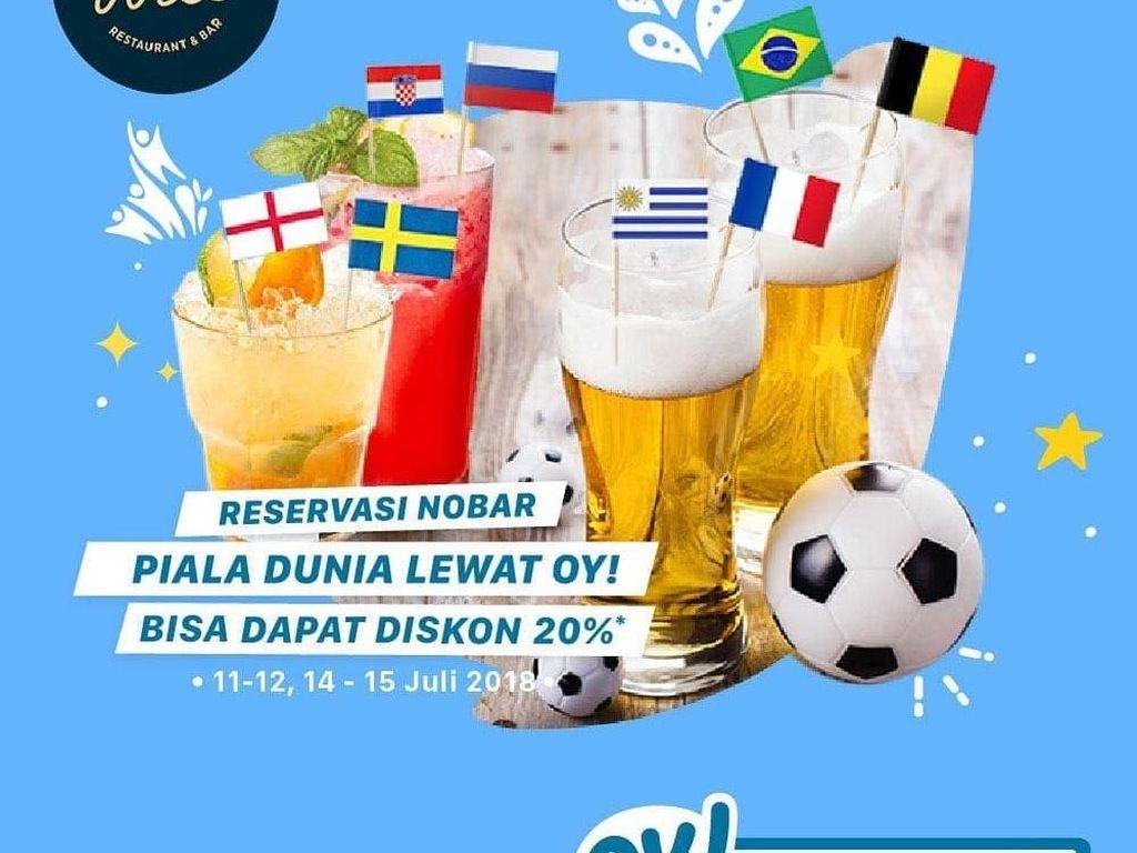 Catat! 5 Restoran Ini Punya Promo Menarik untuk Nobar Final Piala Dunia