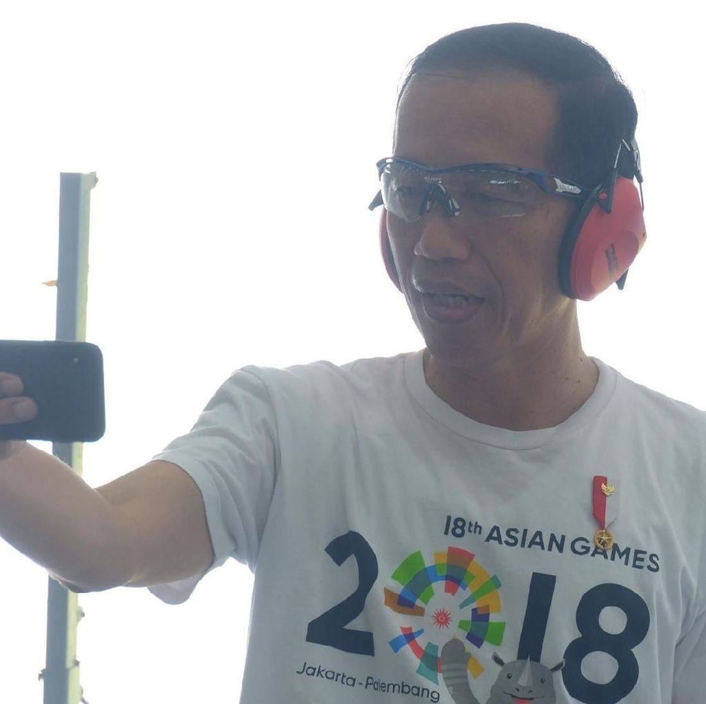 Jokowi Nonton Babak Semifinal Taekwondo Asian Games di JCC