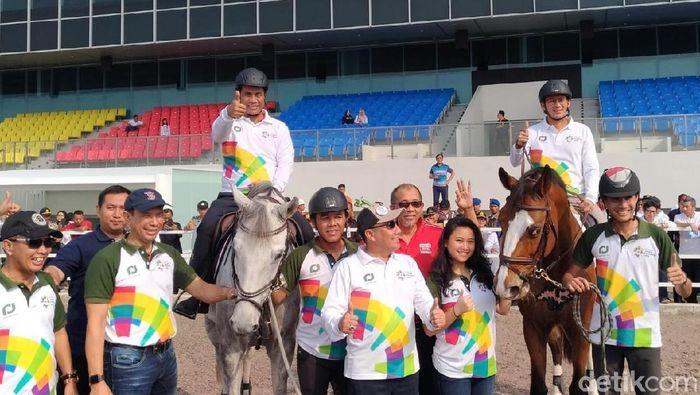 Mirip Joki, Sandi dan Mentan Jajal Kuda Asian Games/Foto: Moch. Prima Fauzi