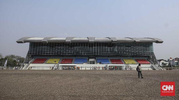 Lokasi pertandingan berkuda di Pulomas telah diresmikan Gubernur DKI Jakarta Anies Baswedan, Kamis (2/8).