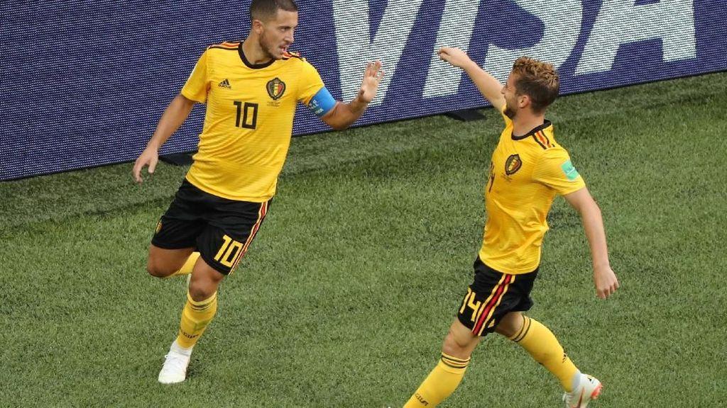 Video: Gol Hazard! Belgia 2-0 Inggris
