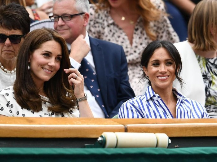 Kate Middleton dan Meghan Markle di Wimbledon 2018. (Foto: Getty Images)
