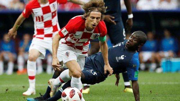 Luka Modric gagal mengantarkan Kroasia juara Piala Dunia 2018.