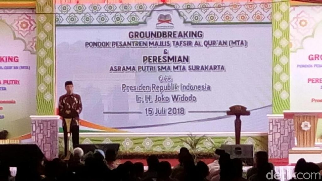 Jokowi Awali Pembangunan Pesantren Milik MTA di Karanganyar