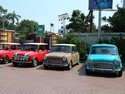 Iringan Mobil Klasik dan Moge dalam Parade Bola Raksasa