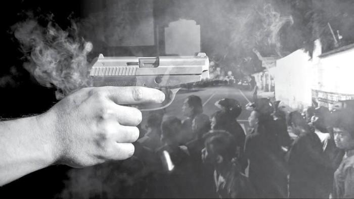 Ilustrasi Baku Tembak di Kaliurang (Zaki Alfarabi/detikcom)