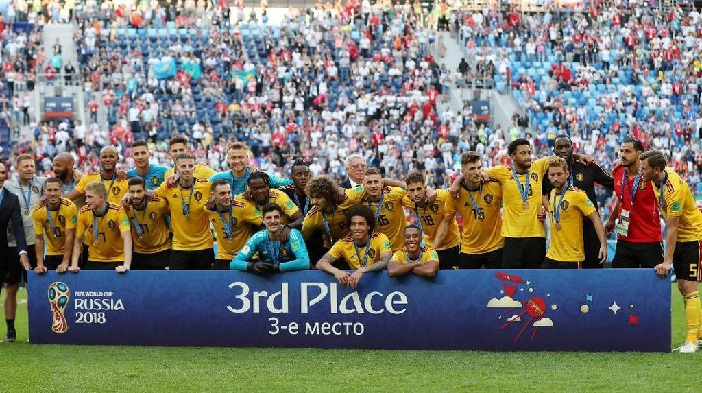 Video: Belgia Pamer Medali Juara Tiga Piala Dunia 2018