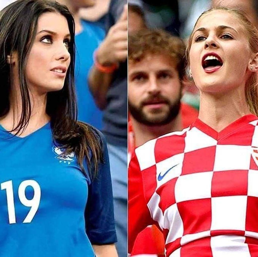 Suporter Jelita Kroasia dan Prancis Panaskan Instagram