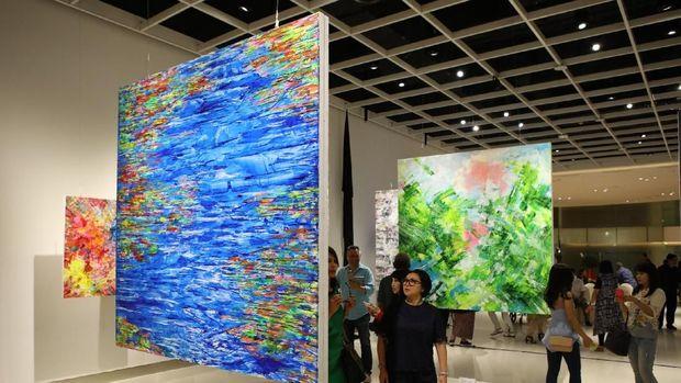 Nafas Baru Pelukis Abstrak Abstrak Haryanto Gunawan di Pameran ke-2