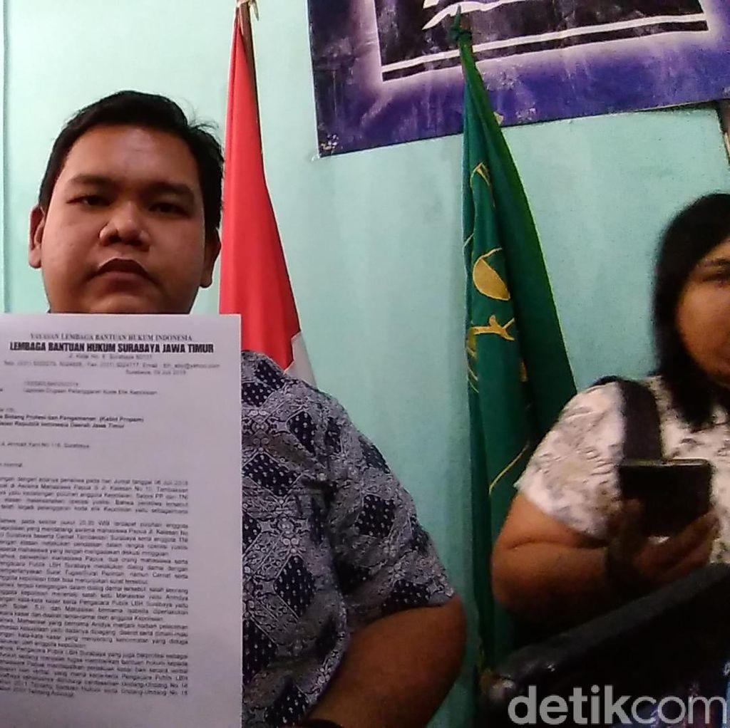 Insiden di Asrama Mahasiswa Papua Dibawa ke Poda Jatim