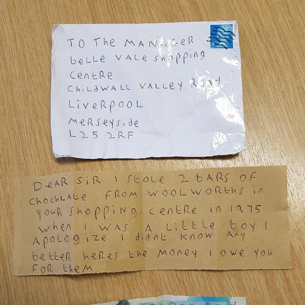 Maling Cokelat Akhirnya Minta Maaf Via Surat Setelah 43 Tahun