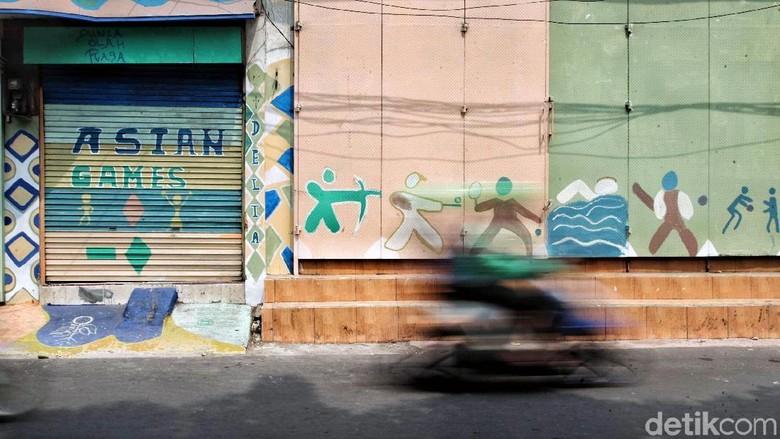 Warna-warni Kampung Mural Asian Games di Pusat Kota Jakarta