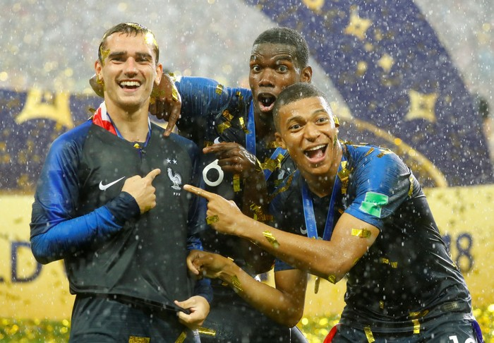 Timnas Prancis juara Piala Dunia 2018. Foto: Reuters