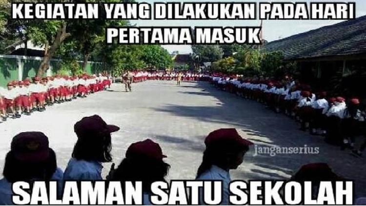Sambutan Meme Lucu Di Hari Pertama Sekolah