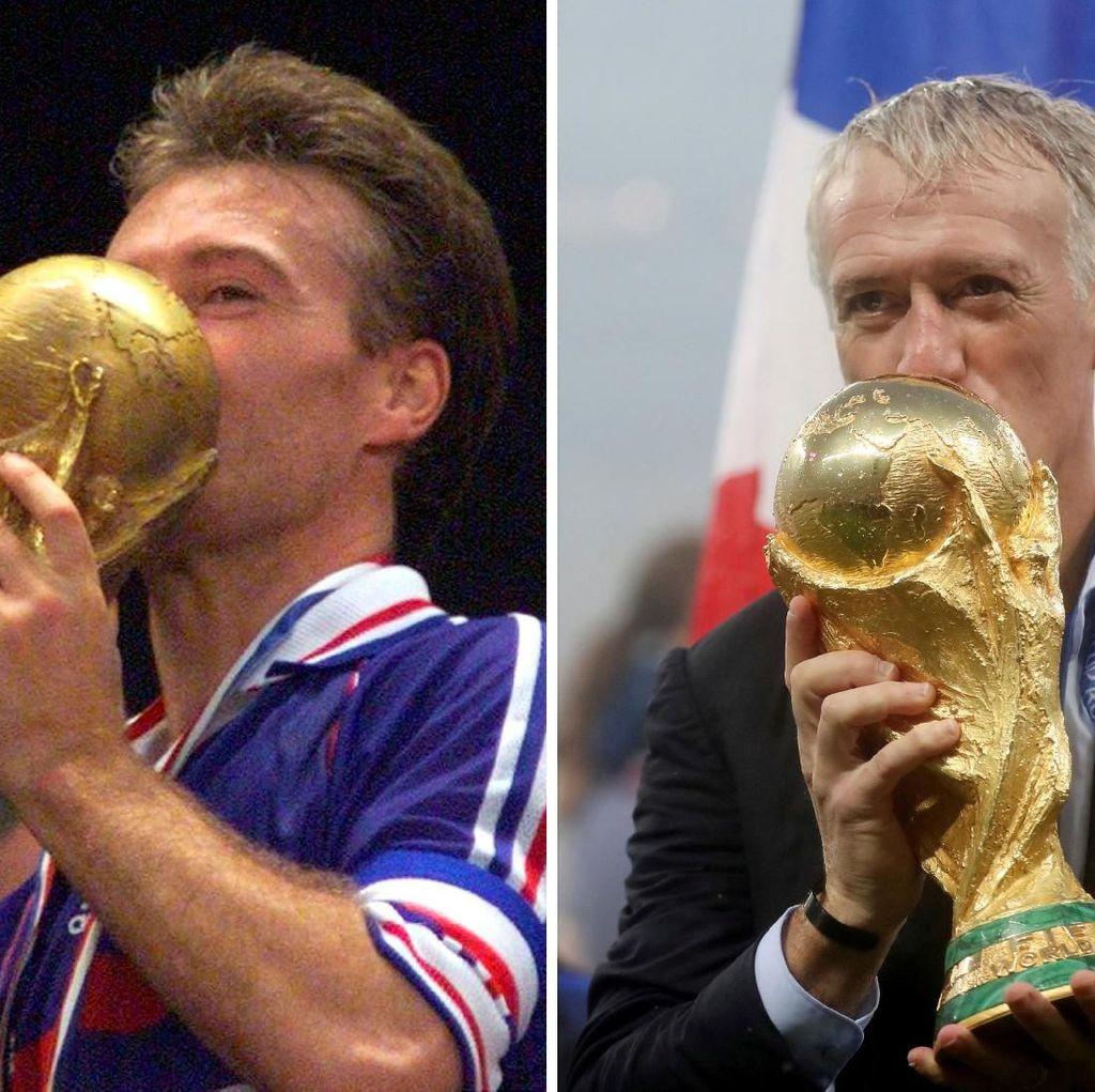 Setelah Dua Dekade, Deschamps Kembali Kecup Trofi Piala Dunia