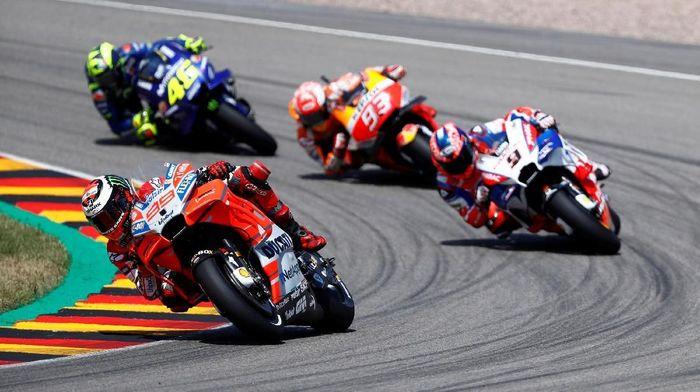 Jorge Lorenzo finis keenam di MotoGP Jerman 2018 (Foto: Fabrizio Bensch/Reuters)