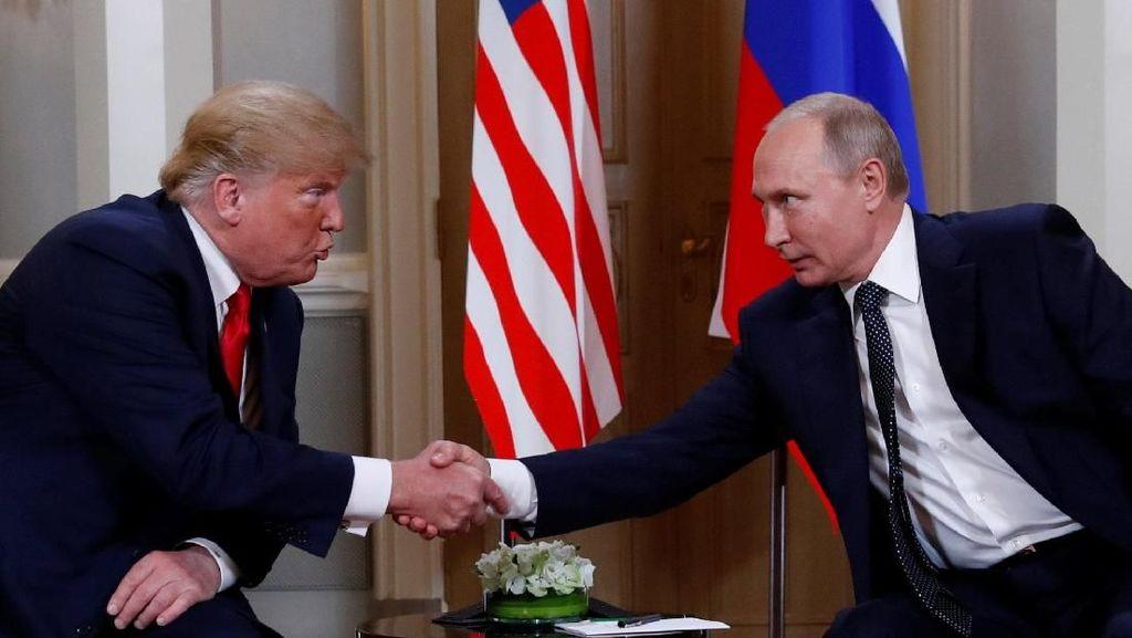 Bertemu Putin di Finlandia, Trump Puji Piala Dunia Rusia 2018