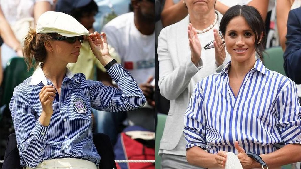 Meghan Markle Modis di Wimbledon, Netizen Bilang Mirip Hakim Garis
