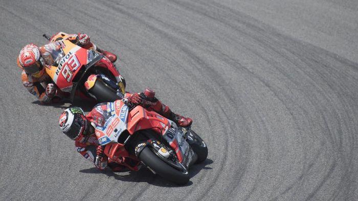 Marc Marquez sebenarnya mengharapkan duel yang lebih sengit dengan dua pebalap Ducati di MotoGP Jerman (Foto: Mirco Lazzari gp/Getty Images)