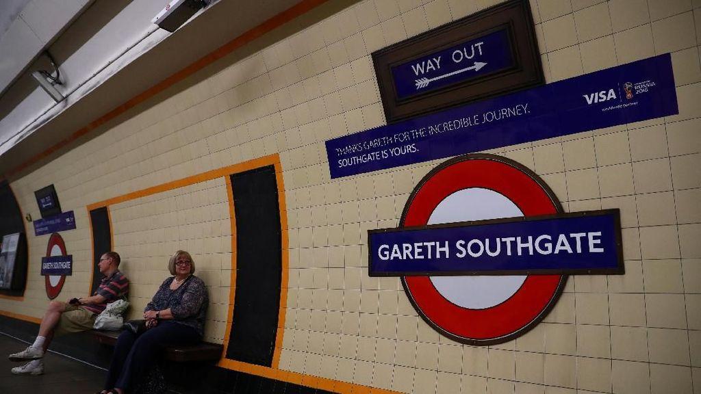 Gareth Southgate Jadi Nama Stasiun Kereta Bawah Tanah