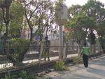 Jelang Asian Games, Dahan Penghalang CCTV di Jakarta Dipangkas