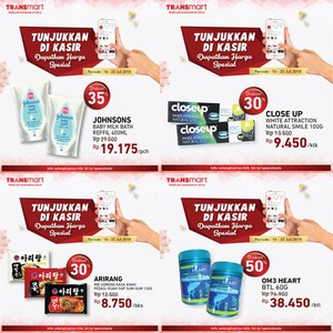 Belanja Pakai Kupon Diskon Digital Transmart,Diskon Hingga 50%