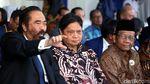 Sstt... Airlangga dan Mahfud MD Duduk Berdampingan di ABN Nasdem