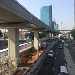 Mengintip Perkembangan Proyek LRT Jabodebek Kuningan-Dukuh Atas