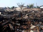 Pasca Kebakaran, Gudang Material di Sunter Rata dengan Tanah