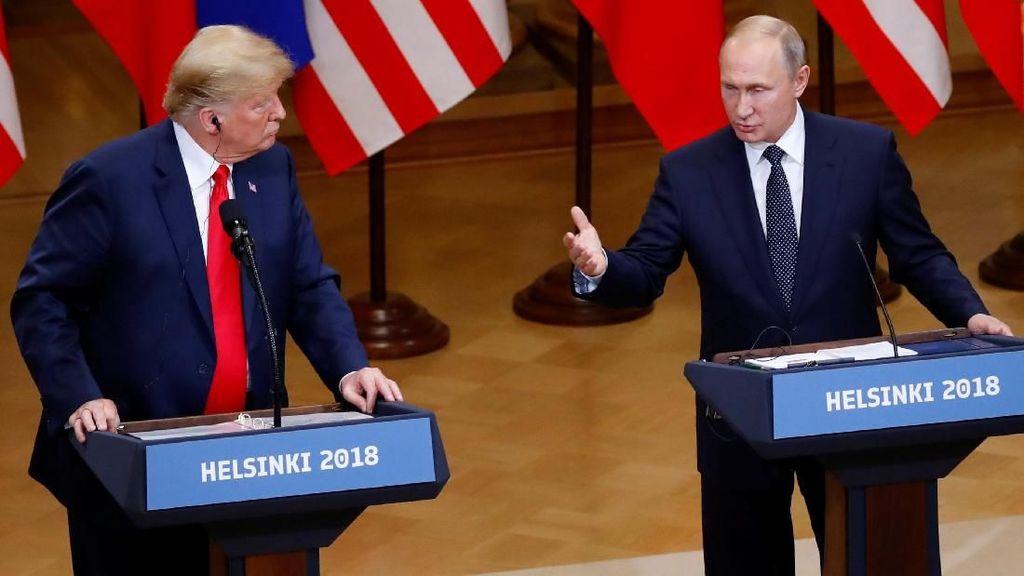 Di Samping Trump, Putin Tegaskan Rusia Tak Intervensi Pilpres AS