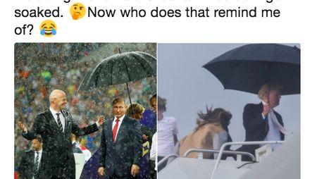Vladimir Putin Pakai Payung Sendirian Jadi Gunjingan