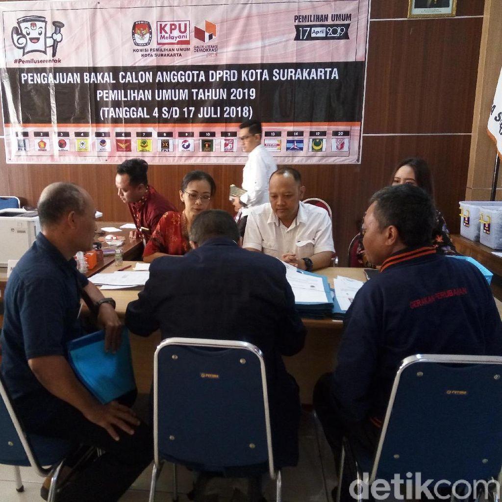 Baru Nasdem dan PKS yang Daftarkan Bacaleg di KPU Surakarta