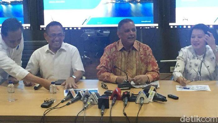 Dirut PLN Sofyan Basir melakukan konferensi pers/Foto: Danang Sugianto/detikFinance