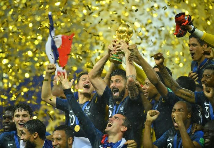 Kemenangan Prancis di Piala Dunia 2018. Foto: Reuters