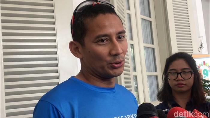Wakil Gubernur Jakarta Sandiaga Uno (M Fida Ul Haq/detikcom)
