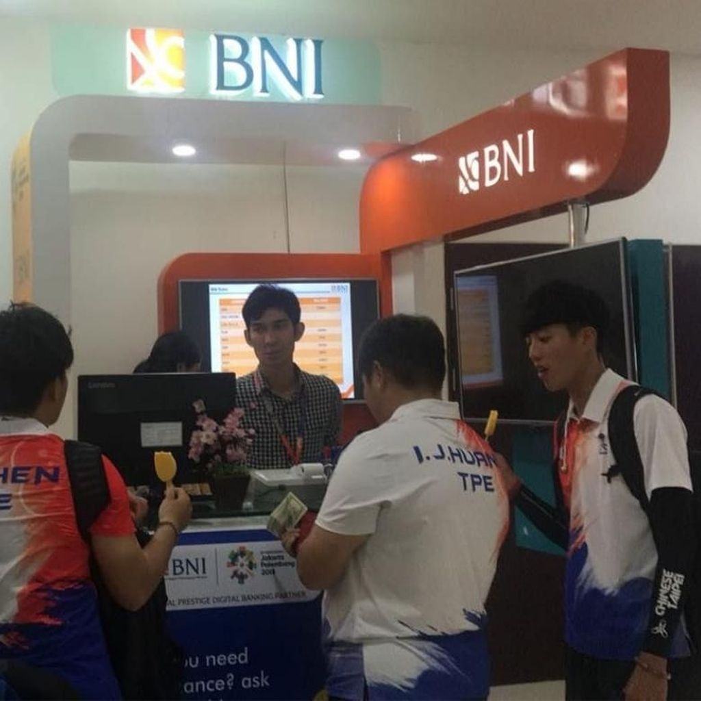 BNI Buka 28 Outlet Money Changer Bagi Kontingen Asian Games 2018