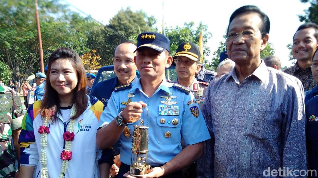 Api Obor Asian Games 2018 Tiba di Yogyakarta