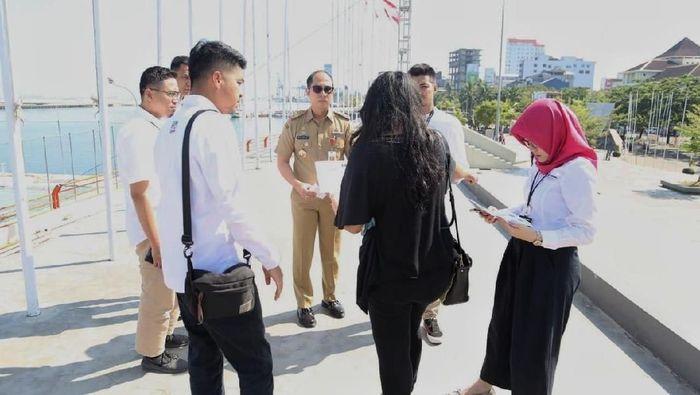 Pengecekan persiapan kirab obor Asian Games 2018 di Makassar (Foto: dok. istimewa)