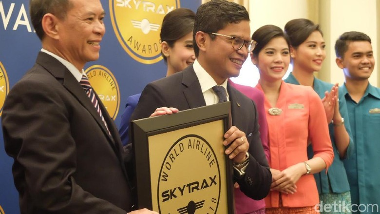 Maskapai GA mendapatkan penghargaan dari Skytrax (Baban/detikTravel)