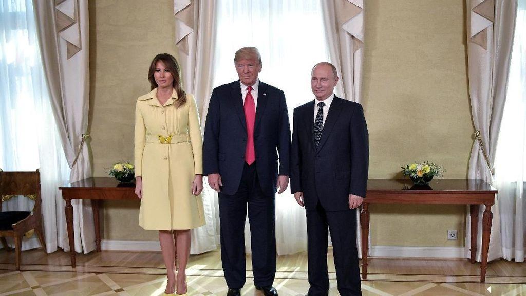 Bertemu Putin, Melania Trump Stylish Pakai Coat Rp 53 Juta