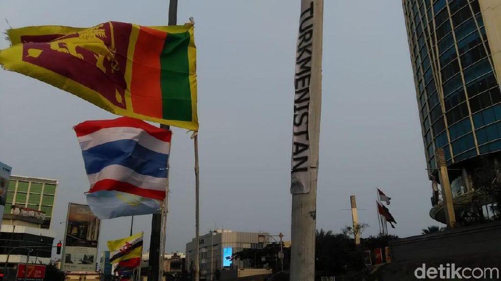 Viral Bendera Negara Asian Games Diikat Bambu, Ini Kata Kecamatan