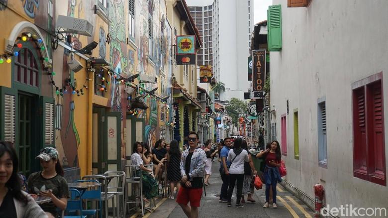 Foto: Ilustrasi Haji Lane di Singapura (Shinta Angriyana/detikTravel)