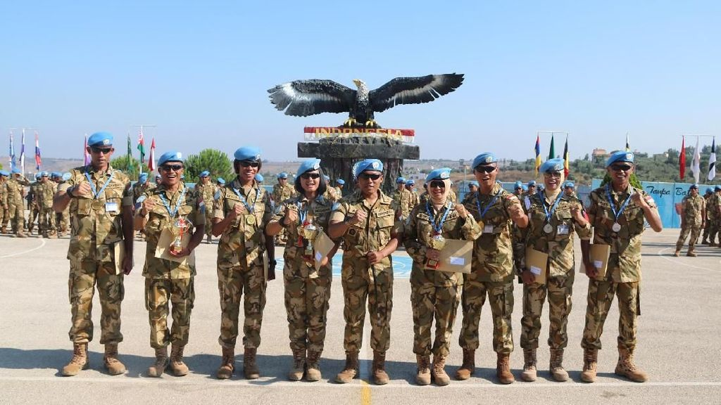 Bikin Bangga! TNI Raih 3 Emas Kompetisi Voli di Lebanon