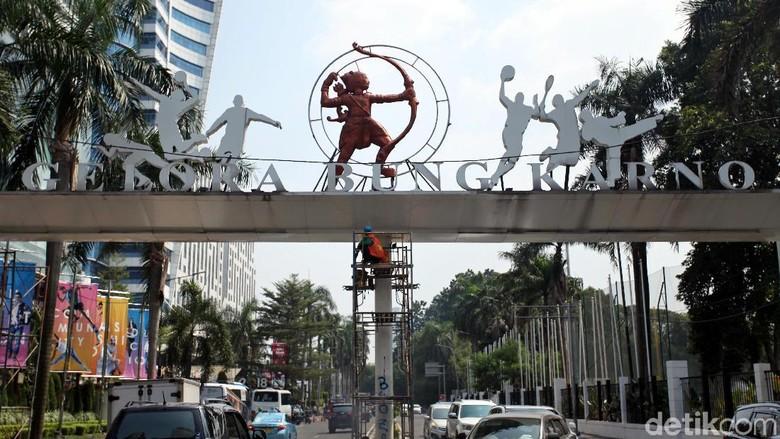 Sambut Asian Games, Pintu Gerbang SUGBK Dipercantik