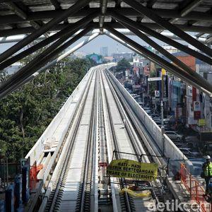 Diresmikan 10 Agustus, Begini Penampakan Proyek LRT Jakarta